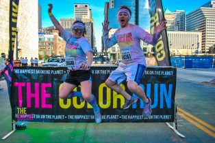 Cameron and I after The Color Run. One of my 5Ks leading up to the half.