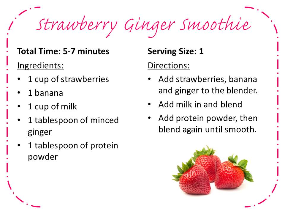 Strawberry Ginger Smoothie
